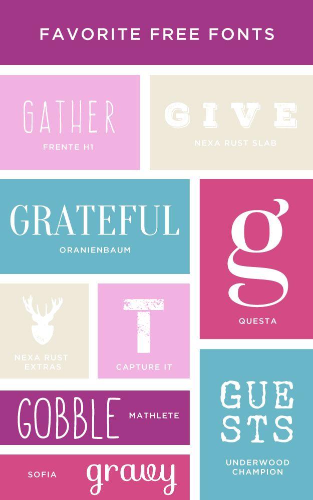 Favorite+Free+Fonts