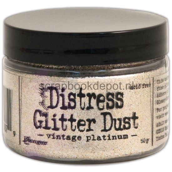 Tim Holtz Distress Glitter Dust Vintage Platinum 50 grams