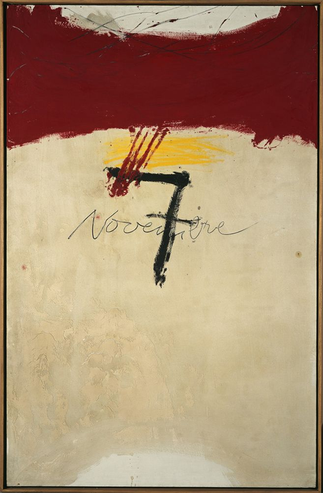 Antoni Tàpies. wikipedia: Antoni Tàpies i Puig, 1st Marquess of Tàpies (1923–2012) was a Catalan painter, sculptor and art theorist, who became one of the most famous European artists of his generation. -- Pinterest can be a great learning tool. Now, I wonder what was the significance to Tàpies of November 7....