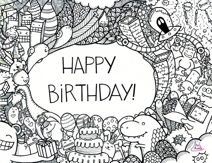 Happy Birthday Doodle By Montemeldeviantartcom On