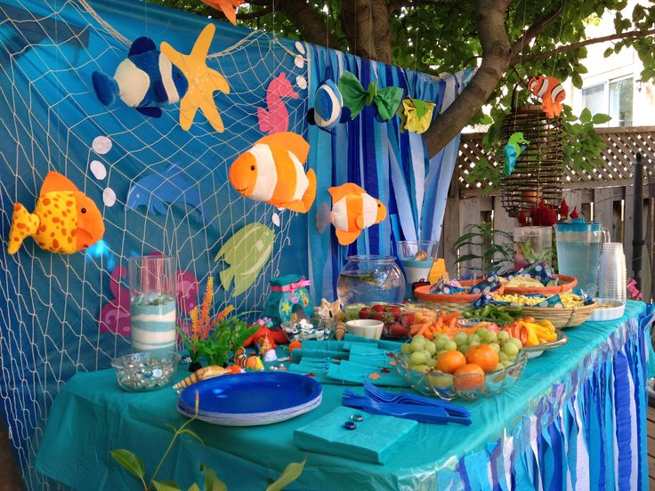 47 best images about under the sea party ideas on for Sea themed decorating ideas