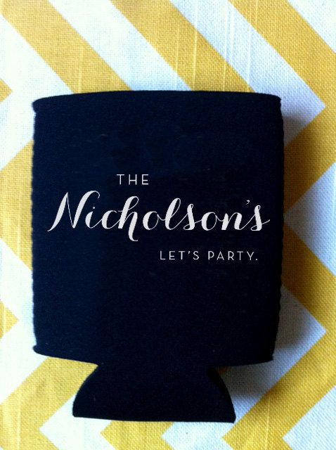 Let's Party Fancy Wedding Koozies 200 count by RookDesignCo, $158.00