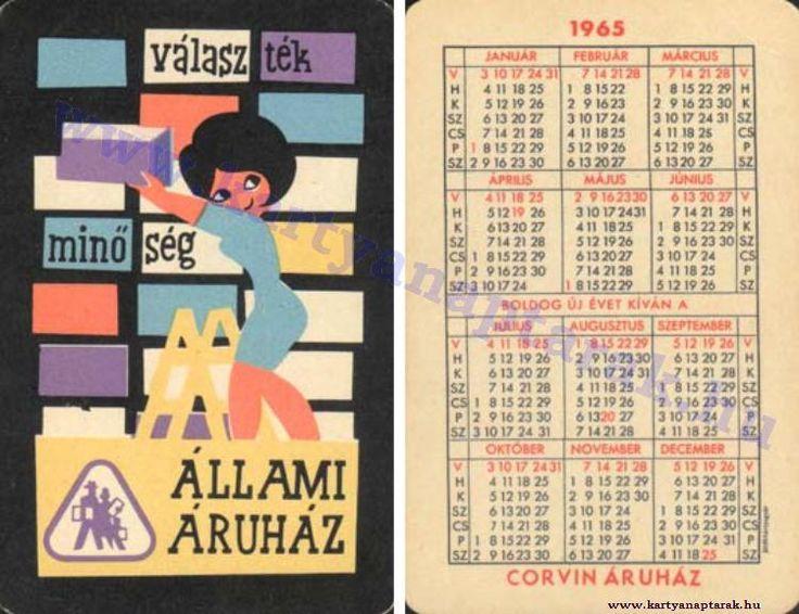 1965 - 1965_0183 - Régi magyar kártyanaptárak