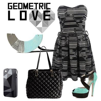 Abito --->http://bit.ly/1nQrnGw Borsa --->http://bit.ly/1tPnVmD  ‪#‎geometric‬ ‪#‎black‬ ‪#‎aquamarine‬ ‪#‎newcollection‬ ‪#‎fallwinter‬ ‪#‎outfit‬