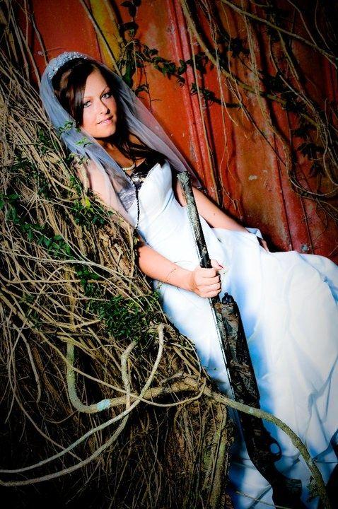 Camo Centerpieces for a Wedding | Talk about a shot gun wedding! | camo wedding ideas