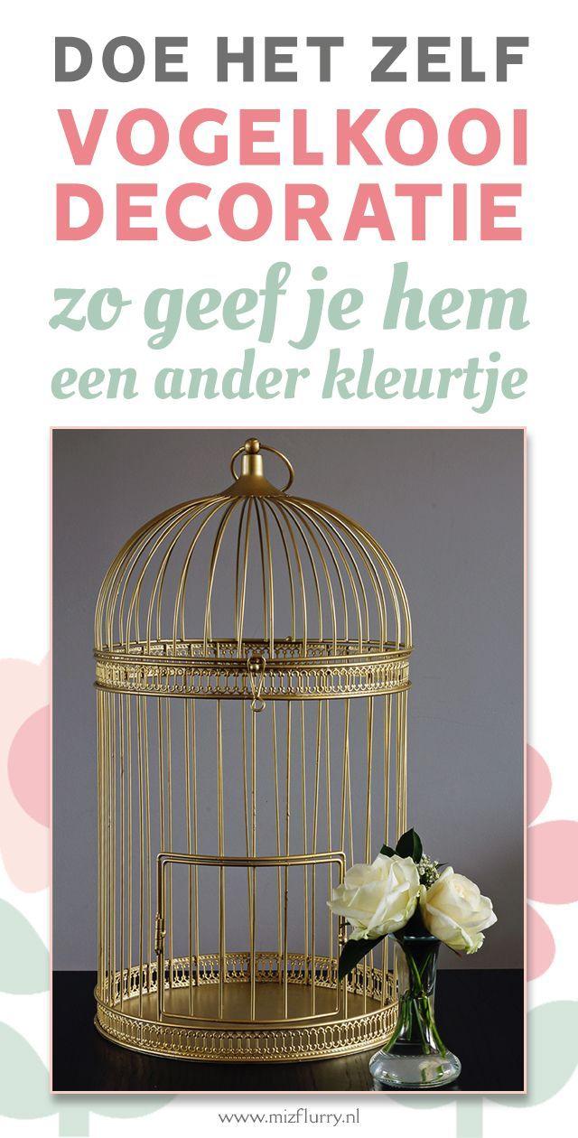 Diy Gouden Vogelkooi Vogelkooi Decoratie Decoratie Vogelkooi