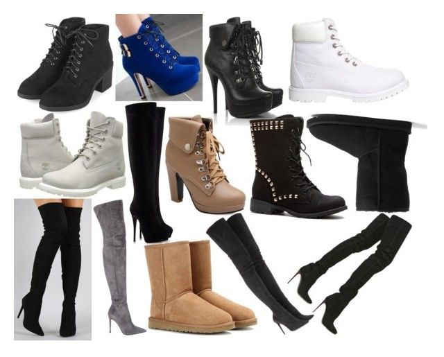 """""""Boot collection part 3"""" by kkfeher ❤ liked on Polyvore featuring Topshop, JY Shoes, Timberland, Liliana, Giuseppe Zanotti, Gianvito Rossi, UGG Australia, Tamara Mellon and Chanel"""
