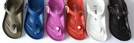 Schoenen en Laarzen 2016: Plastic Birkenstock slippers en sandalen