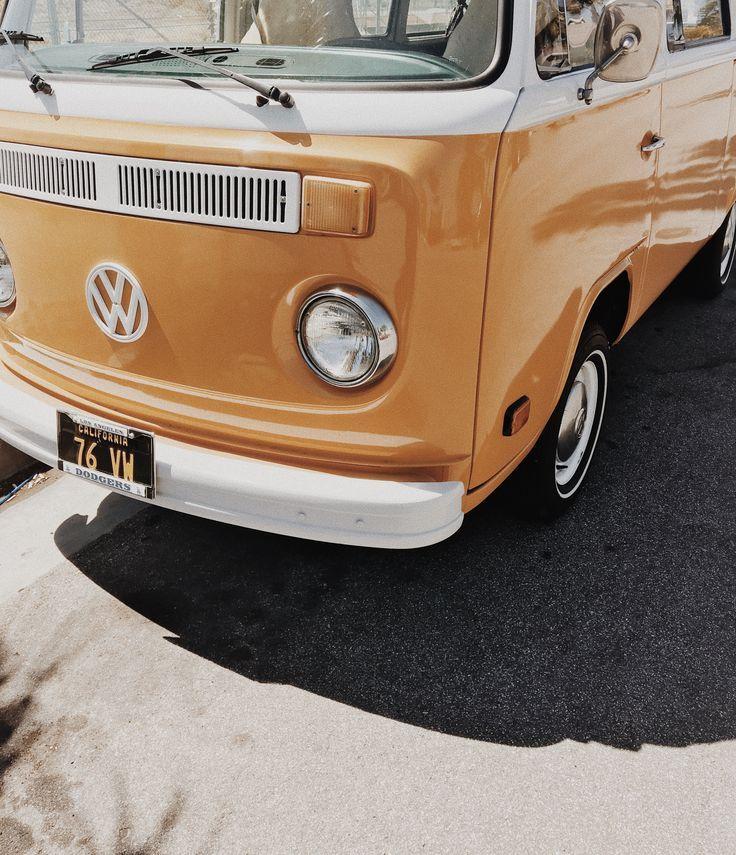Vw Bus Aesthetic Vintage Orange Aesthetic
