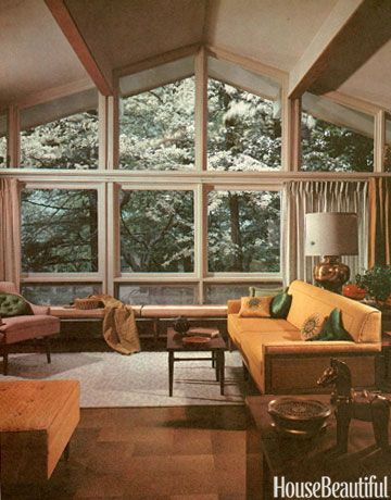 1960s Furniture Styles Pictures   Interior Design From The 1960s   House  Beautiful