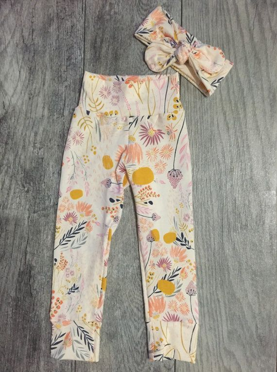Baby Girl Leggings and Headband. Baby Girl Gift by SweeteeHandmade