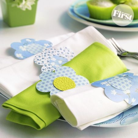 Easter Napkins And Napkin Rings
