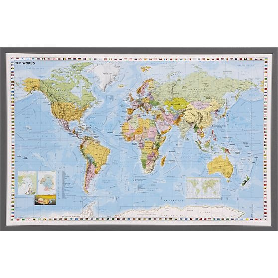 World Map in Art | Crate and Barrel