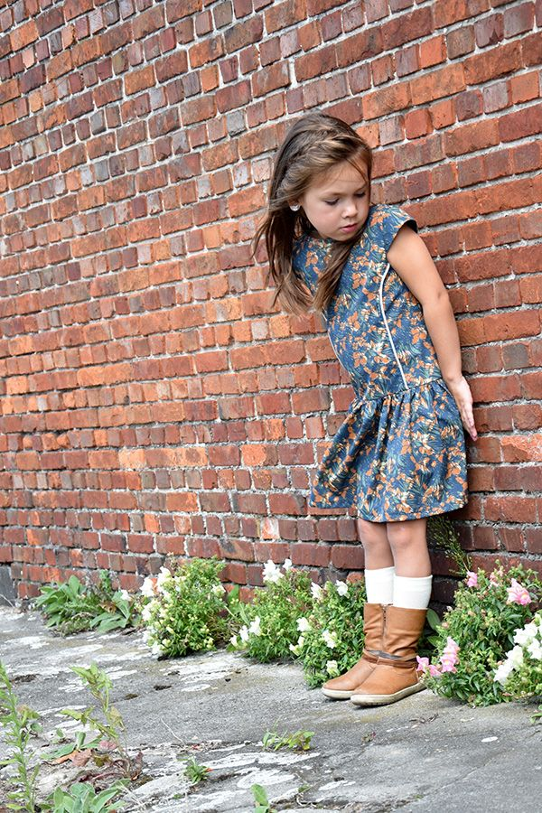 Josephine dress from Bella Sunshine designs. Perfect for fall!