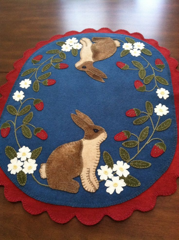 """""""First penny rug I ever made"""".   I put quotes because some lady wrote that…"""