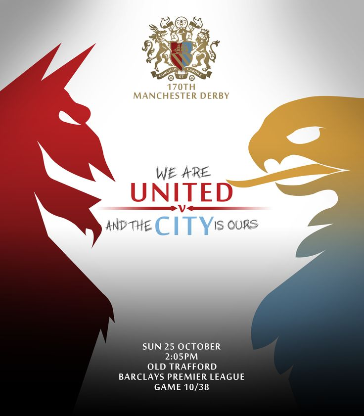 My competition entry for the Manchester Derby Programme Design