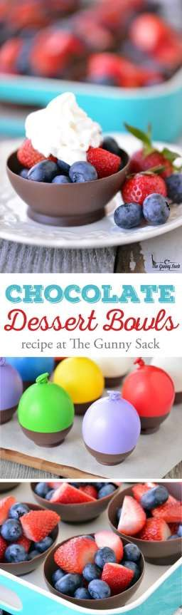 Recipe Chocolate Bowls Easy Chocolates Desserts