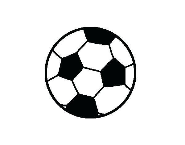 Bola De Futebol Para Colorir Desenho De Uma Bola De Futebol Para