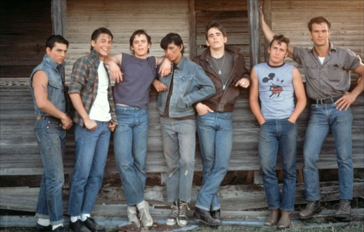 "My favorite movie of all time....1983 The Outsiders C. Thomas Howell, Matt Dillon, Ralph Macchio, Emilio Estevez, Rob Lowe, Patrick Swayze, & Tom Cruise -- < & ... http://www.pinterest.com/pin/507710557966720386/ . "" THANKS, all ! "" -- Your audience ... http://www.pinterest.com/pin/507710557966720343/ & ... http://www.pinterest.com/pin/507710557966720501/ >"