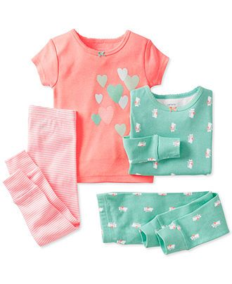 Carter's Baby Girls' 4-Piece Pajamas - Kids Newborn Shop - Macy's