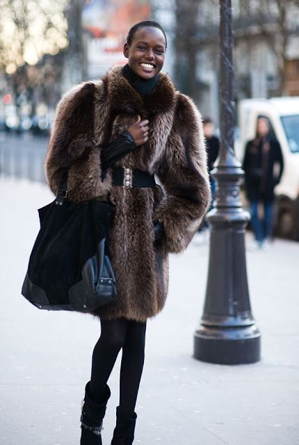 #AjakDeng that is an amazing coat. #offduty in London.