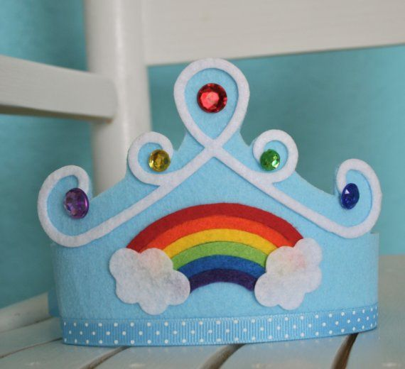 Somewhere Over the Rainbow Crown by TrueLoveFound on Etsy, $18.00