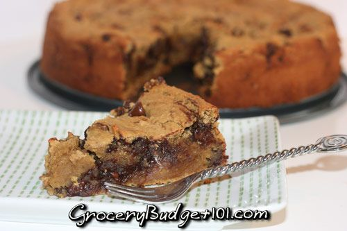 Healthy Deep Dish Chocolate Chip Cookie Pie- this was INCREDIbLE!!! blended until completely smooth in my blendtec, it heated the batter up and caused it to melt the chips a little which made it like a huge brownie/cake  flavor.. oh and I added more chips.. but YUMMO!!