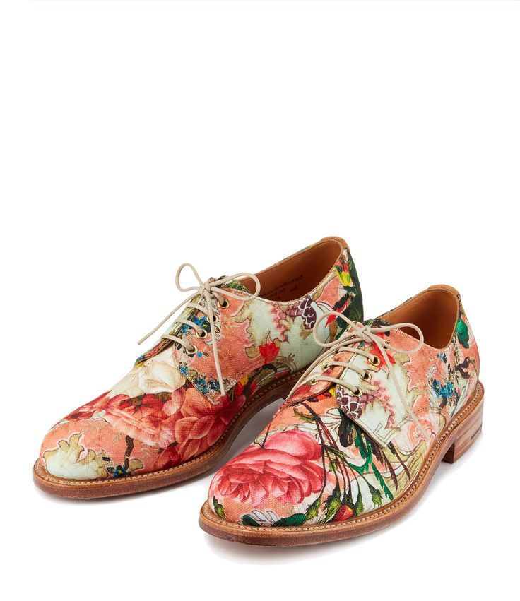 Womens Grenson Lily Print Derby Shoes