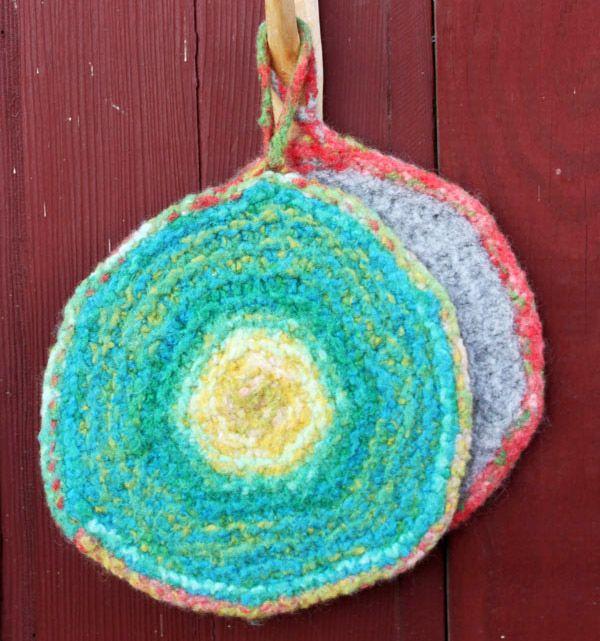 25 Best Knit Potholders Hot Pads Images On Pinterest Pot
