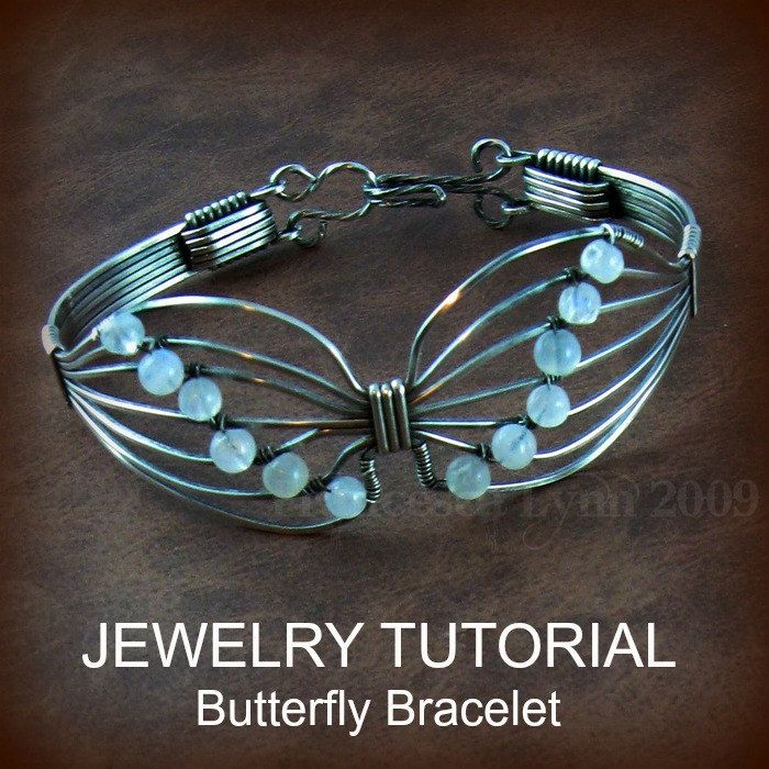 Wire Jewelry Tutorials   JEWELRY TUTORIAL Butterfly Wire Wrapped Bracelet by FrancescaLynn