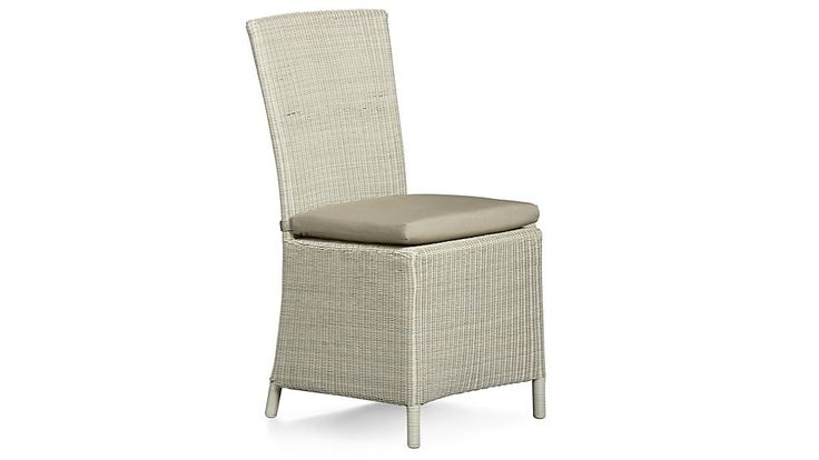 Captiva Seaside White Dining Chair and Cushion | Crate and Barrel