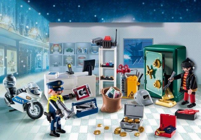 Playmobil : Calendrier de l'Avent Policier cambrioleur - Castello | Jeux et Jouets