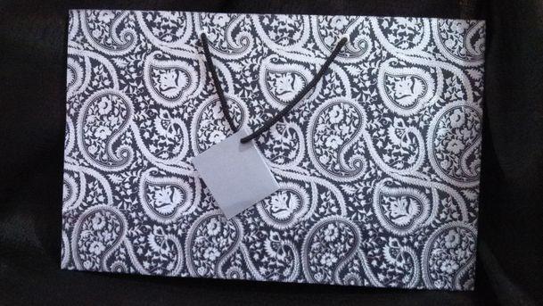 Black Silver Large Printed Bag  (20)