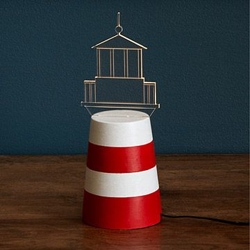 Cool gift for Mom and Dad Berry? Look what I found at UncommonGoods: LED Lighthouse Lamp for $89.00