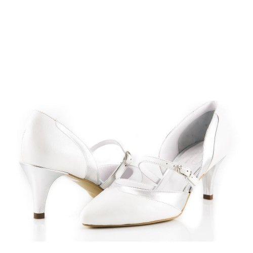 Pantofi R2 Albi - GlamShoes.ro