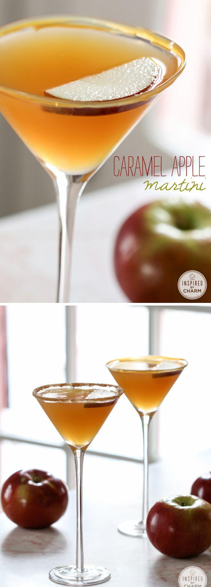 Caramel Apple Martini - Fall Wedding Signature Drink