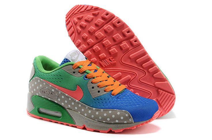 Ladies Nike Air Max 90 Blue Green Orange
