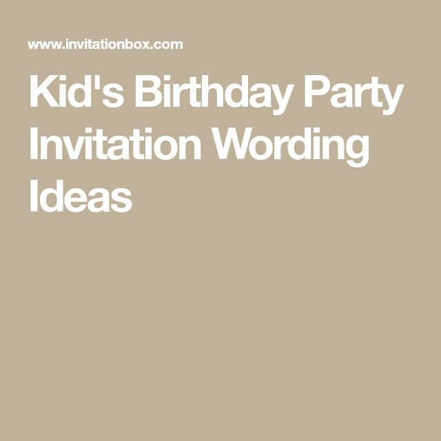 Best 25+ Birthday party invitation wording ideas on Pinterest - birthday invitation letter sample