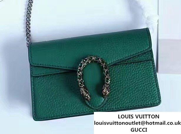 d4d341b955a Gucci Dionysus Chain Super Mini Bag 476432 Leather Green 2017 ...