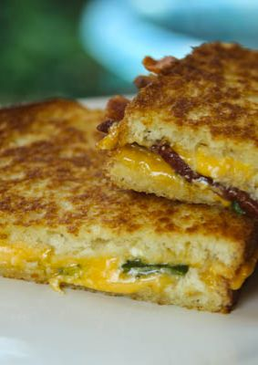 Loaded Baked Potatoes in a grilled cheese sandwich form. Delicious, savory, crispy, comfort food at its best