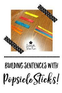 Building Sentences with Popsicle Sticks in Speech. A fun, DIY idea that won't require much prep time! Grab your Popsicle sticks and read up how you can easily use this fun activity in your speech therapy rooms to increase MLU, work on sentence structure