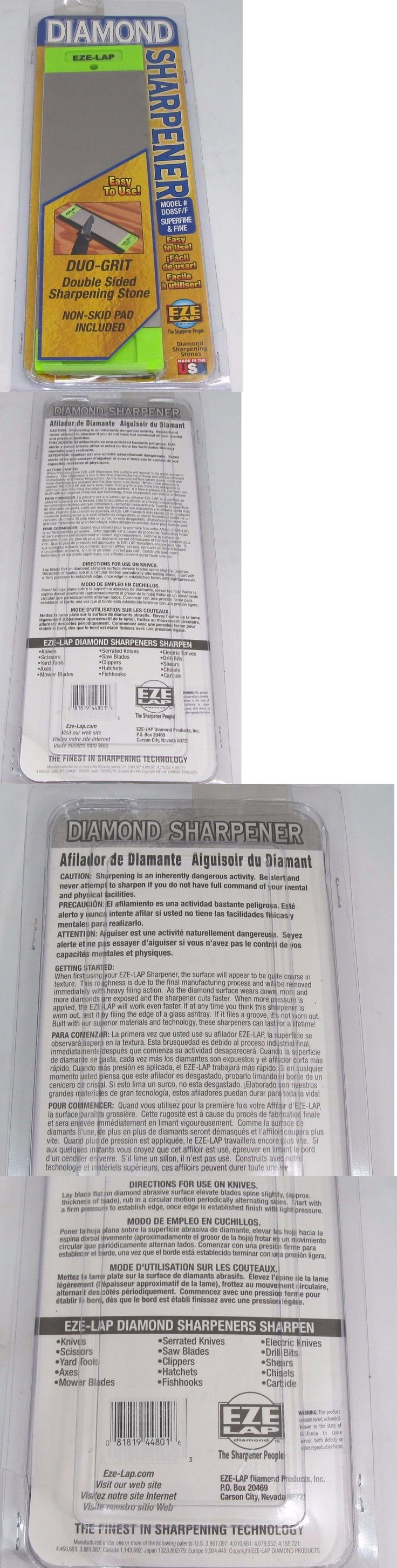 Sharpeners 42290: Eze-Lap Dd8sf F 3 By 8 Double Sided Diamond Sharpening Stone Sf F, Dmg Box -> BUY IT NOW ONLY: $86 on eBay!