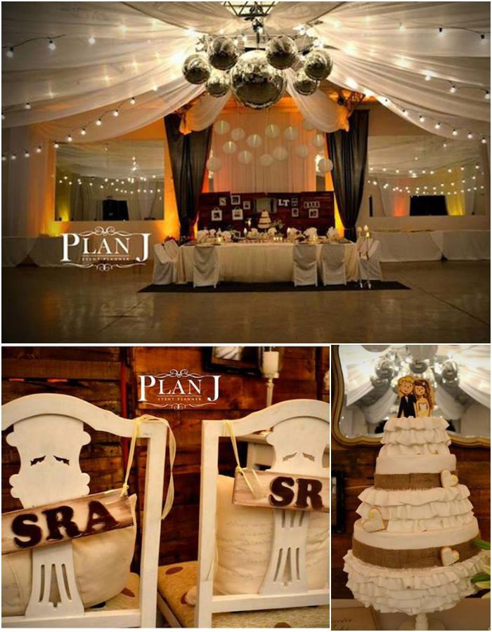 Rustic Chic Wedding With So Many Ideas Via Karas Party RusticWedding RusticChicParty WeddingIdeas PartySupplies