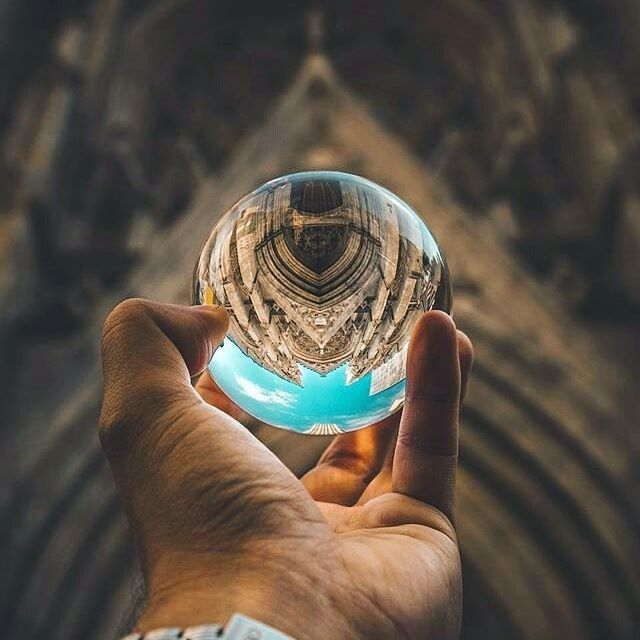 Capture a world in the palm of your hand ⛪🔮 Gorgeous shot by @brianj_photography