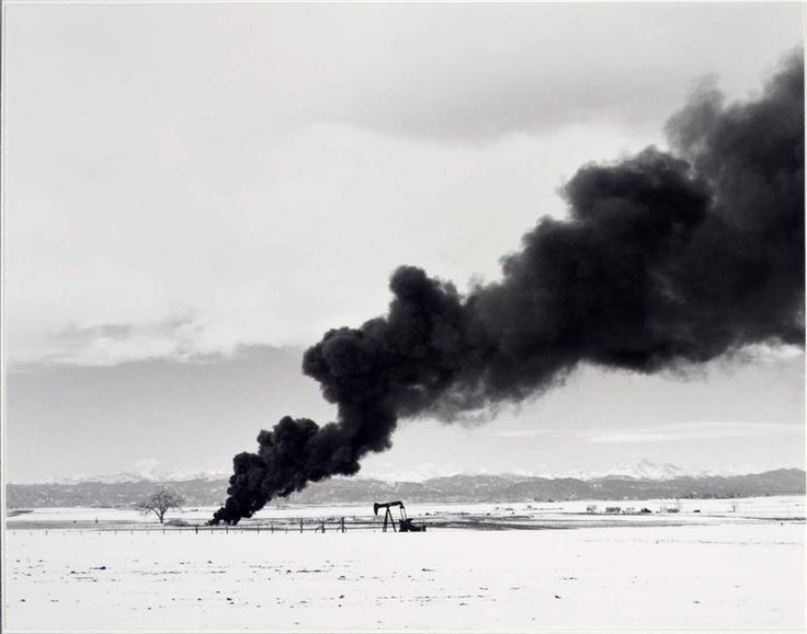 Robert Adams - Burning Oil Sludge North of Denver (Custom)