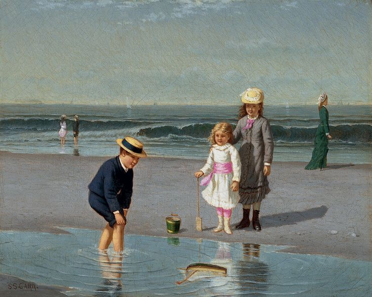 Children on the beach, Samuel S. Carr - Madrid, Museo Thyssen Bornemisza
