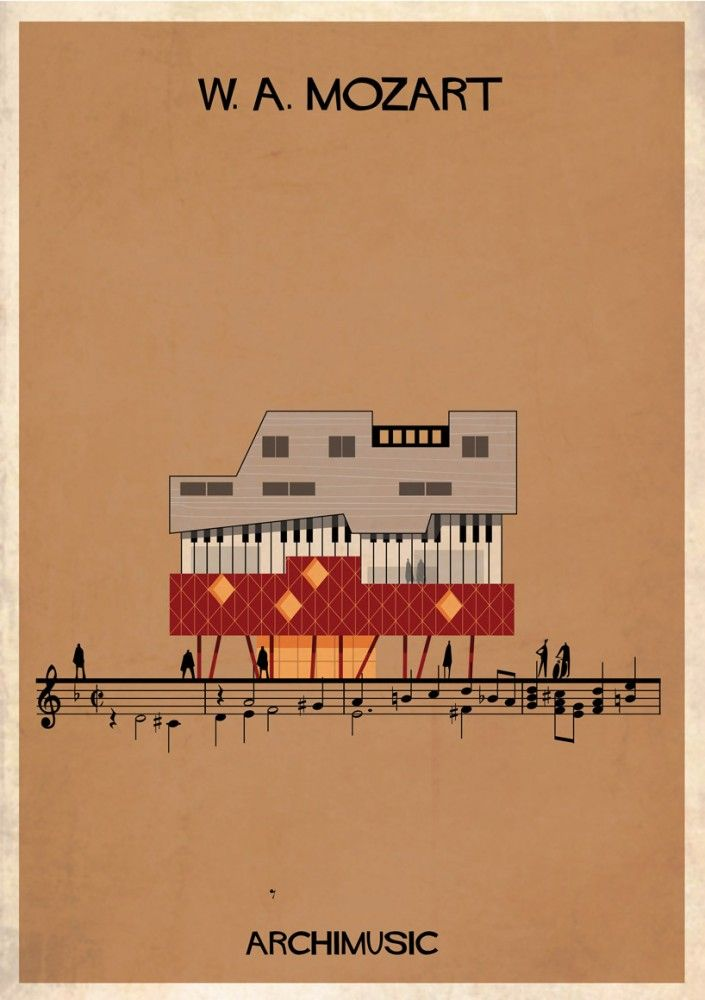 "ARCHIMUSIC: Illustrations Turn Music Into Architecture - Federico Babina / Mozart, ""Requiem"""