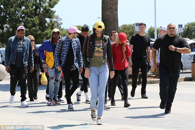Squad: They were joined by Kylie's current bestie Harry Hudson, and Odd Future's rapper, Taco