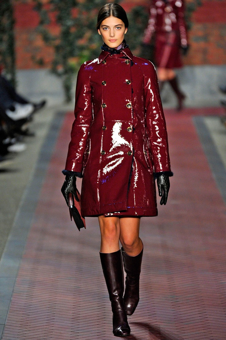Love the red patent leather - Tommy Hilfigger 2012.
