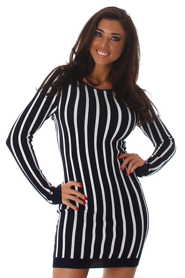 Black White Striped Mini Dress - Shop Striped Mini Dresses Online.